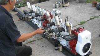 Download FrankenBriggs 6 Cylinder 1st Run!!!! Video