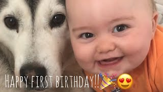 Download Happy 1st Birthday Baby Parker!! [CUTEST CLIPS EVER] [IMPOSSIBLE NOT TO SMILE] Video