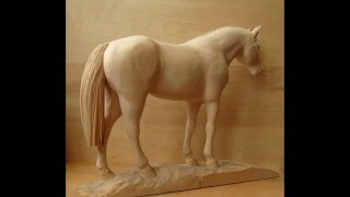 Download Wood carving sculpture ″Arabian horse″ Video