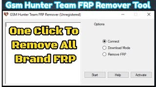 Download Gsm Hunter Team FRP Remover Tool With Keys All Brand FRP Tool Video