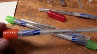 Download How to Make a BICtory Pen-Spinning Pratice Pen from Bic Ultra Round Stic Grip pens Video