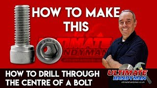 Download How to drill through the centre of a bolt | drill bolt guide Video