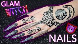 Download DIY Glam Witch Nails | Black Holographic Glitter mwahaha Video