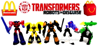 Download 2017 McDONALD'S TRANSFORMERS HAPPY MEAL TOYS ROBOTS IN DISGUISE TF RID FULL SET 5 KID TOY COLLECTION Video