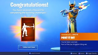 Download The New ICE KING EMOTE in Fortnite.. (Point It Out Tier 100 Emote) Video