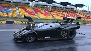 Download LAMBORGHINI SUPERCHARGED V8 DRAG CAR LICENCE TESTING AT SYDNEY DRAGWAY 19.12.2014 Video