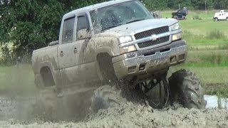 Download MEGA MUD TRUCKS IN THE BACK POND!!! Video