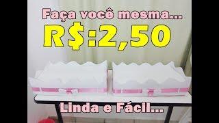 Download Bandeja Para Aniversário Fácil - FEITA COM CAIXA DE LEITE Video