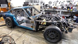 Download 240z Wheel Wells Finished, Seam Sealed, and Panels Paint Prepped Video