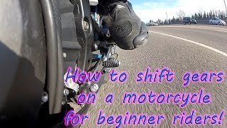 Download How to shift gears on a motorcycle . Multiple angle footage. Video