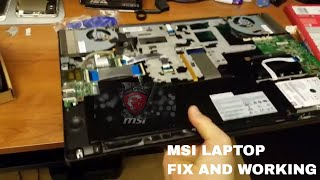 Download MSI laptop was not turning now is working and fixed Video
