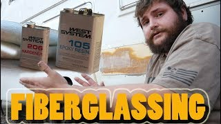 Download FIBERGLASS FILLING in LARGE HOLES in RV for the FIRST TIME! DIY Customize Your Camper Ep2 Video