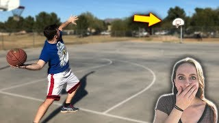 Download Insane Game Of H.O.R.S.E vs. My Girlfriend! IRL Basketball Challenge Video