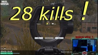 Download RULES OF SURVIVAL BANNED AFTER SETTING KILL RECORD 28KILLS !!! RANK 10 OVERALL IN ROS Video