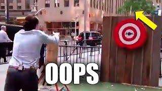 Download Fox News Axe Toss Almost Kills Man Video