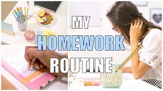 Download MY SCHOOL HOMEWORK ROUTINE | How To Do Your Homework! Video
