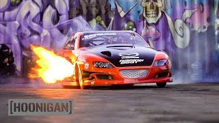 Download Menacing Mazda RX8 Drag Car Breathes Fire //DT244 Video