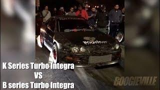 Download Turbo B Series Integra vs Turbo K Series Integra!!! Video