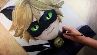 Download Speed Drawing: Cat Noir /Chat Noir (Miraculous Ladybug)   Diana Díaz Video