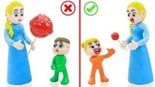 Download SUPERHERO BABY MOTHER CARE LOLLIPOP 💖 Cartoons Play Doh Stop Motion Video