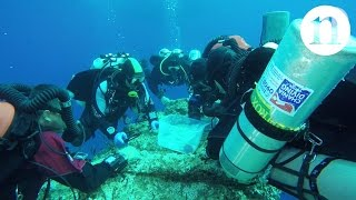 Download Skeleton uncovered at ancient Antikythera shipwreck Video