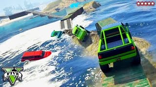 Download GTA 5 Impossible Ocean Race!! RAGE ON THE SEA! Try Harding w/The Crew GTA 5 Funny Moments Video