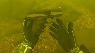 Download Found a Cheap Hi-Point Pistol Underwater While Scuba Diving! (Police Called) Video