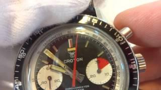 Download Croton Chronomaster Aviator Sea Diver chronograph watch Video