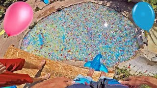 Download 10,000 WATER BALLOONS FILL POOL! Video