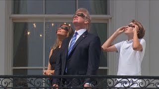 Download Trumps watch solar eclipse at White House Video