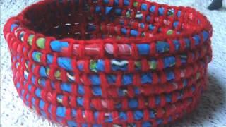Download साड़ी /सूट /पुराने कपड़ों से बनाए/ handmade fabric woolen fruit basket/best from waste material Video