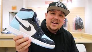 Download Air Jordan 1 Chill Blue Patent Leather Retro OG Sneaker Review #sneakerhead #jumpman Video