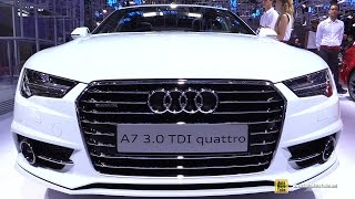 Download 2017 Audi A7 3.0 TDI Quattro - Exterior and Interior Walkaround - 2016 Paris Motor Show Video