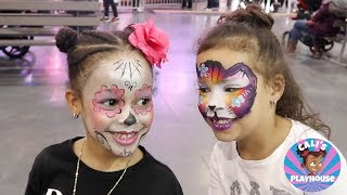 Download Cali Gets Her Face Painted! Cali's Playhouse Video