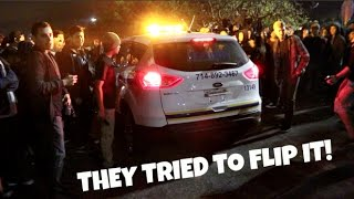 Download THEY TRIED TO FLIP THE SECURITY CAR! Car Meet Gone Wild Video