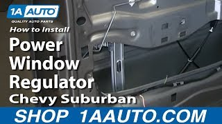 Download How To Install Replace Fix Power Window Regulator 2000-02 Chevy Suburban Tahoe Video