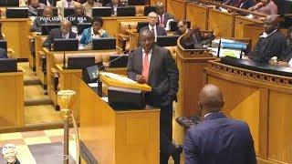 Download Cyril Ramaphosa Mocking Mmusi Maimane In Parliament Video