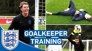 Download Lightning Reflexes and Claiming Crosses! | Goalkeeper Training | England U21 Video