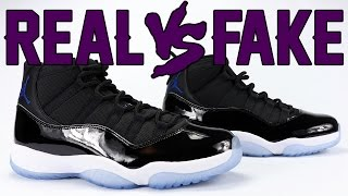 Download Real vs Fake Air Jordan 11 Space Jam 2016 Legit Check Video