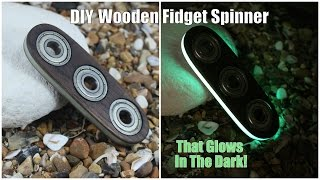 Download DIY Wooden Fidget Spinner That Glows In The Dark Video