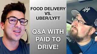 Download Food Delivery vs. Uber/Lyft with Paid to Drive! Video