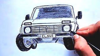 Download ❤️ Niva seklini nece cekmek lazimdir ❤️ (Ehedov Elnur) Как нарисовать машину Ниву Video