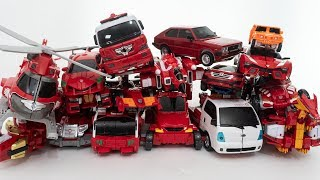 Download 빨강 헬로카봇 또봇V 또봇 레스큐 다이노코어 미니특공대 로봇 자동차 변신 놀이 Red Hello carbot Tobot V Dinocore Miniforce Video