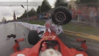 Download Embarrassing Ferrari F1 Crash onboard view Video