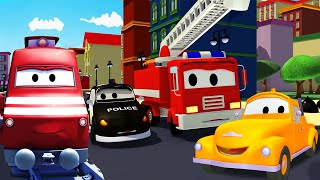 Download The Car Patrol, Tom the Tow Truck and Troy the Train help Car City   Trucks Cartoons for kids Video
