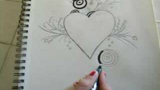 Download Drawing a heart Video
