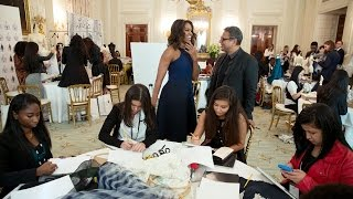 Download First Lady Michelle Obama Speaks at the Fashion Education Workshop Video