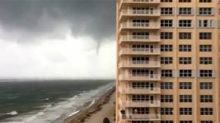 Download Waterspout/ Tornado Making landfall In Lauderdale by the Sea (Hurricane Irma) Video