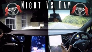 Download Does Tesla AutoPilot Work In The Dark?? | Tesla Night vs Day Test Video
