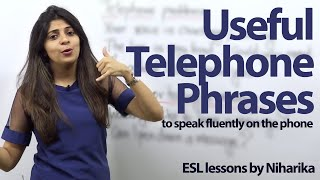 Download Useful Telephone Phrases - Free English lesson to speak English fluently on the phone. Video
